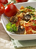 Tomato and mushroom bake