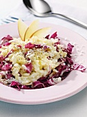 Risotto with apple and radicchio