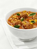 Chick-pea and tomato stew with meatballs