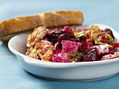 Beetroot salad with Chinese cabbage