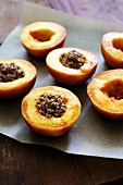 Peaches with walnut stuffing