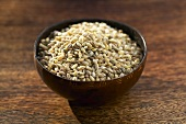 Hulled barley in a small bowl