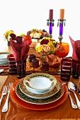 Orientalisch gedeckter Tisch