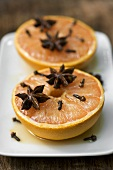Baked grapefruit with honey