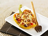 Yellow pepper stuffed with meat