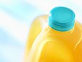 Apple juice in a plastic bottle