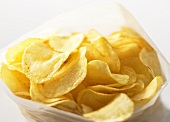 Potato crisps in a plastic bag