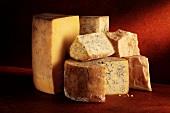 Stilton and Cheddar cheese