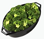 Broccoli in a roasting dish