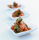 Panzanella col pane scuro (Tomato and bread salad)