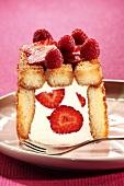 Strawberry and yoghurt charlotte