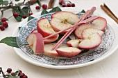 Cinnamon apples for chocolate fondue