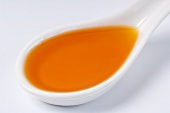 Chilli oil on a spoon