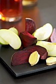 Beetroot, apple and ginger, cut into pieces