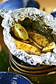 Grilled bananas in aluminium foil