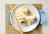 Asian plaice rolls