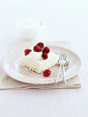 Raspberry mousse slice