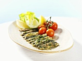 Fried herring fillets with parsley