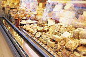 A cheese counter