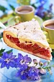 A piece of rhubarb pie