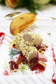 Goose liver parfait with pepper coating