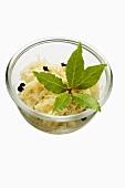 Sauerkraut in a small bowl