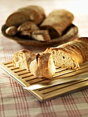 Pane rustico (crusty white bread), Tuscany, Italy