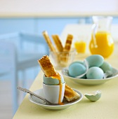 Boiled egg with toast soldiers