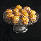 Mini muffins with star sprinkles