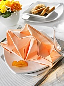 Napkin folding design: 'Star'