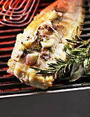 Grilled sole fillet