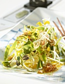 Sprout salad with avocado (China)