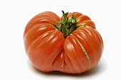 A beefsteak tomato, variety: Cuore di bue (Italy)