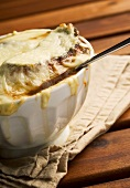 Onion soup with cheese croute (France)