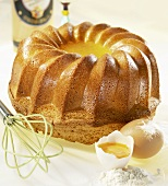 Ring-shaped advocaat cake (gugelhupf)