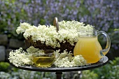 Elderflower tea and syrup