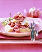 Chicken and rhubarb salad