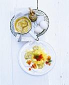 Eier in Senfsauce mit Kartoffelschnee