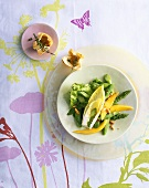 Green asparagus and mango salad