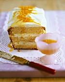 Orange cake with cream filling