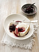 Meringue roulade with acacia cream & fruit compote (Australia)