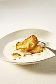 Sämige Hühnersuppe mit Crème Fraîche