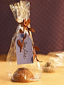 Chocolate in cellophane bag (favour)