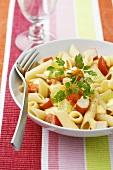 Pasta salad with surimi