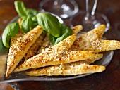 Pikante Käse-Blätterteig-Ecken