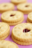 Jammie Dodgers (Shortcake biscuits with raspberry jam, UK)