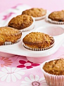 Oat muffins in a muffin tin