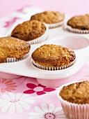 Oat muffins in a muffin tin