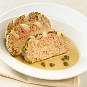 Meatloaf with caper sauce