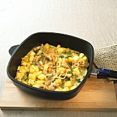 Hoppel Poppel (Meat and potato omelette)